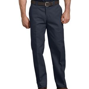 Dickies Navy Blue Flat Front 44x30 Twill Pants